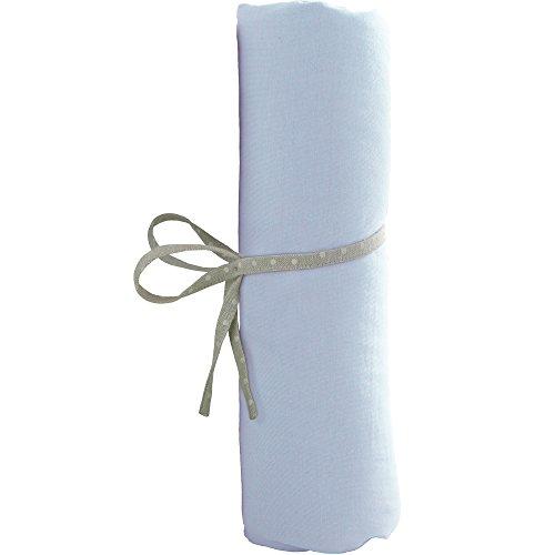Drap Housse berceau 40x80 cm en coton Babycalin - Bleu ciel