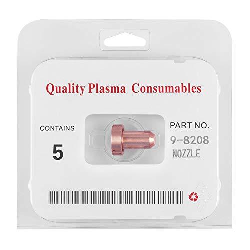 Puntas de corte por plasma, 100% nuevo de alto rendimiento 5 piezas 9-8208 40A Boquillas de plasma Antorcha de plasma consumible para máquina de soldadura