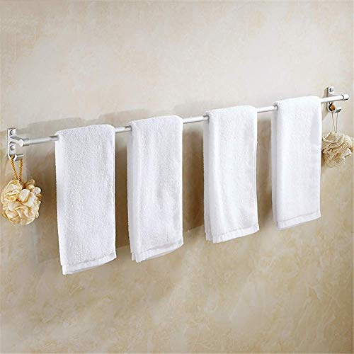 Raum Aluminium Handtuchhalter Einpolig Rostfrei Handtuchhalter Wandhalterung Handtuchhalter Mit Haken Für Bad Schlafzimmer Küche Büro (30-120cm) Optional