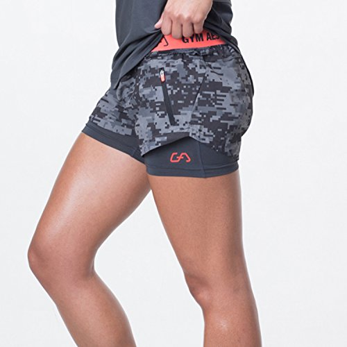 GYM AESTHETICS Women's 2 in 1 Running Shorts Hitex 2.0