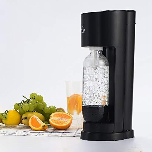 SJB Coctelera, Cocktail Kit Carbonatador carbonatador Hecha de Servidor Agua carbonatada/máquina de refrescos (no Incluyendo el depósito de Gas dióxido de Carbono) (Color : Black)