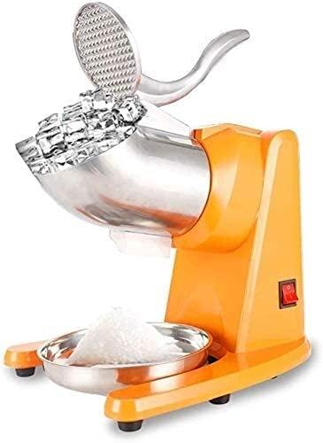 Máquina de afeitadora de hielo profesional 95kg / H Trituradora de hielo eléctrica de acero inoxidable, para helados, bebidas frías, postre de frutas y cóctel