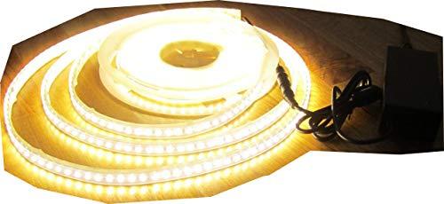 SET 5100 Lumen 10m Led Streifen 1200 LED warmweiß wasserfest IP65 inkl. Netzteil 24V Pro-Serie TÜV/GS geprüft von AS-S