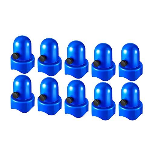 iFCOW 10 delar studsmatta stolpe keps 3,5 cm diameter hölje säkerhetskeps med skruvtumme för studsmatta nät