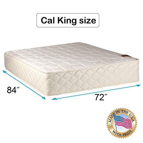 Best Buy! Dream Solutions USA Grandeur Deluxe 2-Sided Medium Firm Mattress Only with Mattress Cover ...