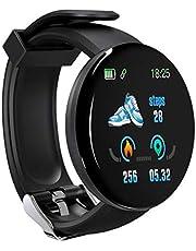 perfk Smartwatch Android Watch Man Cinturino Sportivo/da Lavoro di precisione, Batteria ai polimeri di Litio IP65,90 mAh Resistente all'Acqua - Nero