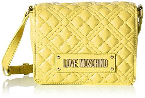 Love Moschino PreCollection SS31, Umhängetasche für Damen aus PU, New Shiny Quilted, Gelb, Normal