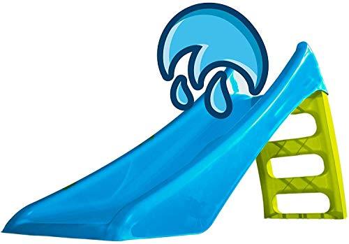 Rutschbähne/Folien mit klappbaren Breitrutsche 3-Jährigen zur Verfügung, mit Leiter Innen- und Außen Garten Spielzeug,Blue
