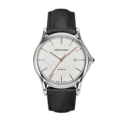 Emporio Armani Herren analog Automatik Uhr mit Leder Armband ARS3023