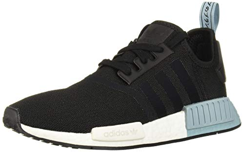 adidas Originals Women's NMD_r1 Running Shoe, Black/Black/ash Grey, 5 M US