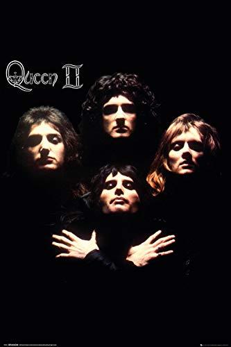 Queen - Music Poster (Bohemian Rhapsody - Queen II - Album Cover) (Size: 24 x 36 Inches)
