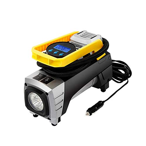GAGP Compresor De Aire PortátilDC 12V 150PSI Coche Portátil Compresor De Aire Eléctrico Inflador De Neumáticos Bomba Linterna Inflación Rápida