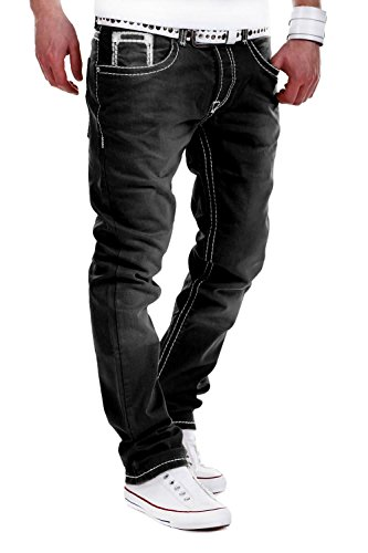 MT Styles Jeans Straight-Fit Hose RJ-133 [Schwarz, W33/L34]