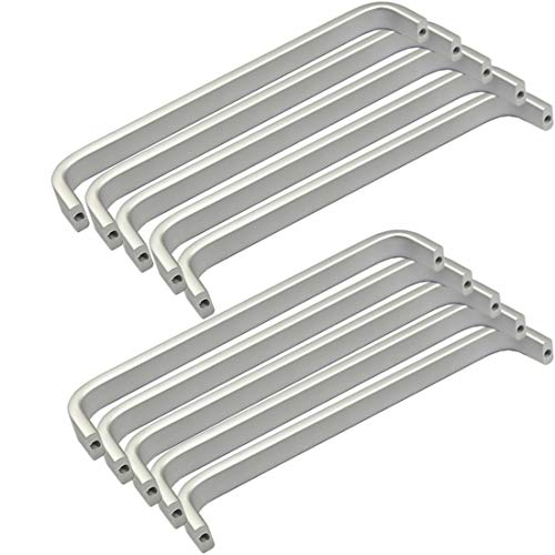 10x Mini Maniglie per ante di mobili in Alluminio, viti incluse (Lunghezza:164MM, Larghezza: 10mm)