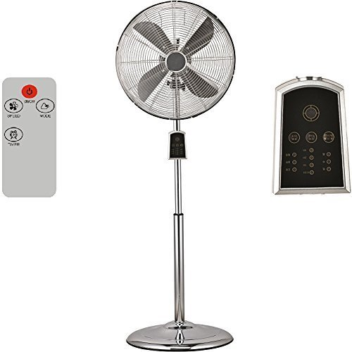 Syntrox Germany SVT-60W - Ventilatore con telecomando a distanza, cromato, stile vintage