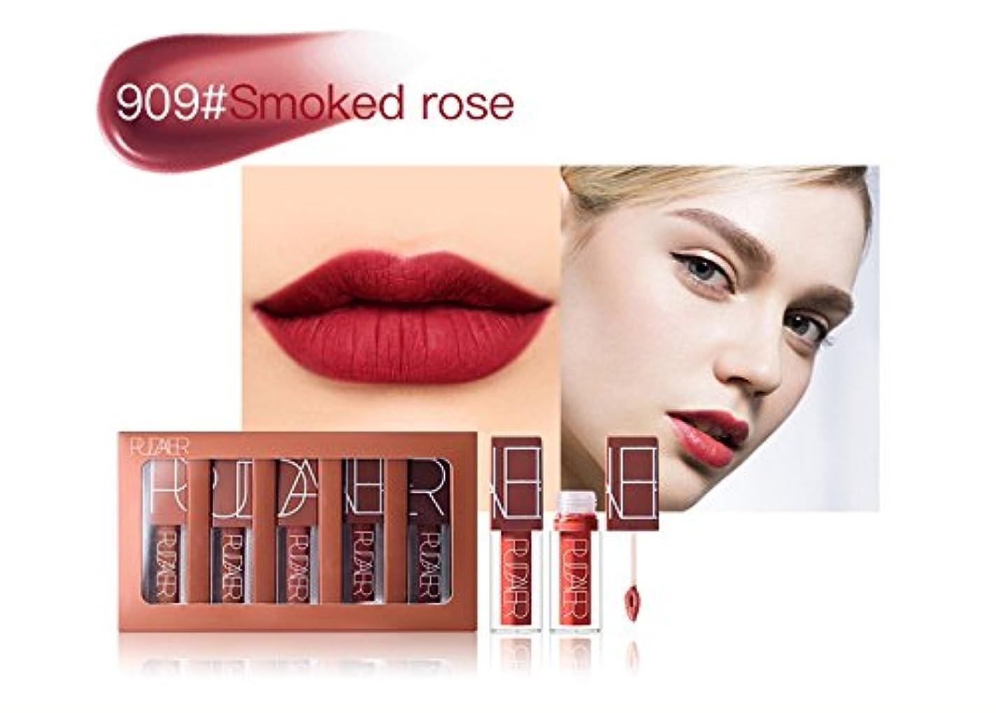 重なる喜劇体現するNo #909 Hot Brand Long Lasting Velvet Lips Tint Liquid Lipstick Matte Beauty Cosmetics Sexy Nude Pigment Matte Lip Gloss Tattoo Makeup