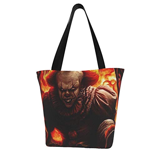 Pennywise Totes Carry Bag Women's Shoulder Handbags Big Capacity Shopping Bag Canvas Handbags Casual Ladies for Shopping