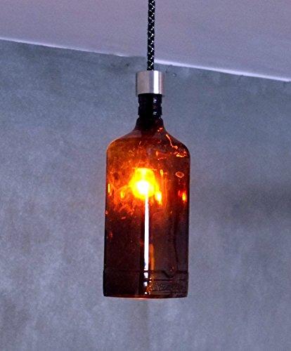 Industrie Flasche Beleuchtung –, Deckenleuchte Pendelleuchte aus feinstem Ballantines Whiskey Flasche–recyceltem Glas zum Aufhängen Leuchtmittel