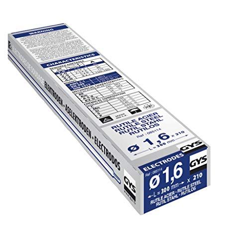 GYS - ELECTRODES Rutile Ø 1.6 E6013 - ETUI de 210 - CONSOMMABLE Soudure MMA -toutes positions - A L'electrode - Amorcage Des 40V