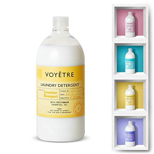 Voyetre Detergente Líquido concentrado para lavadora – Natural, vegano, fórmula biodegradable [1L – 28 lavados] (Jasmine Bouquet)