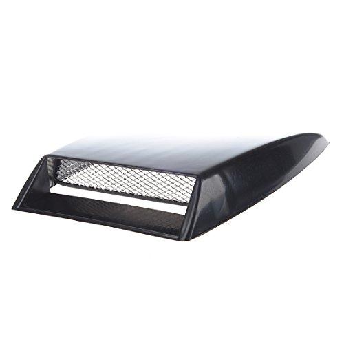 TOOGOO(R) Respiradero de flujo de aire universal capilla de toma de aire de coche Negro con malla