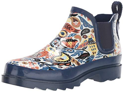 The Sak Women's Sakroots Rhyme Ankle Rainboot Rain Boot, Clay Echanted Forest, 9 Medium US