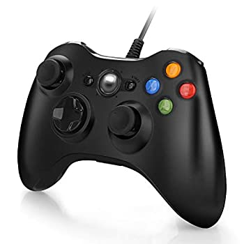 Wired Controller for Xbox 360 USB PC Game Controller Gamepad Joystick for Microsoft Xbox 360 PC Windows 7,8,10  Black