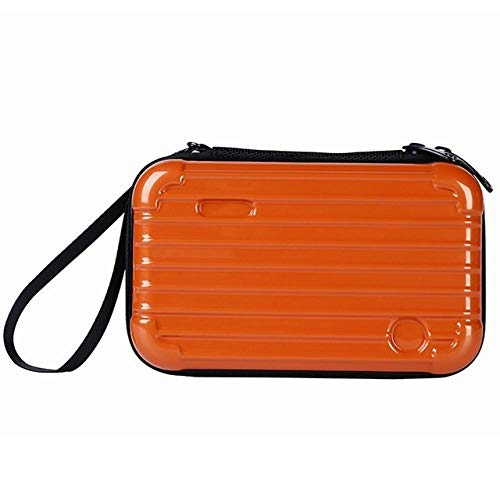 Cosmétique Sac Étanche Maquillage Sacs Portable Femmes Voyage Organisateur Nécessité Beauté Cas Valise17.5 * 11 * 7 cm-Orange_17.5 * 11 * 7 cm