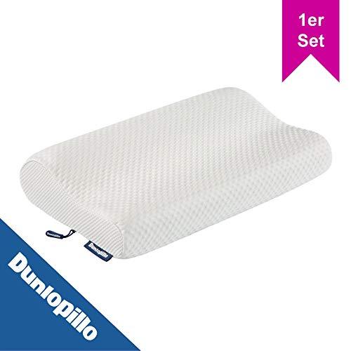 LILENO HOME by Dunlopillo orthopädisches Nackenstützkissen 50x30 cm 1er Set mit ergonomischen Visko-Gelschaum (Memory Foam) - Kopfkissen Visco Schlafkissen - Memoryschaum Seitenschläfer Kissen