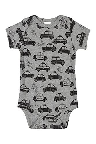Body Bebê Manga Curta Essentials em Suedine bebê-meninos Up Baby, Cinza, P
