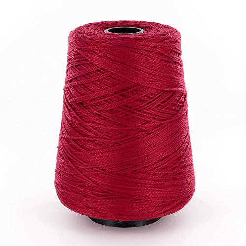 Valley Yarns 3/2 Mercerized Cotton Weaving Yarn, 3 Crochet Thread, 100% Cotton - #3800 Currant
