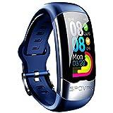 LITINGT & reg;Pulsera de Fitness con frecuencia cardíaca, IP67, rastreador de Actividad a Prueba de Agua con podómetro, Monitor de sueño, Contador de calorías, para niños, Mujeres, Hombres, Azul