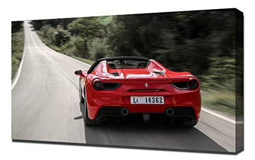 2016-Ferrari-488-Spider-V9-1080 - Lienzo decorativo para pared