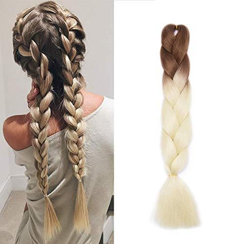 Braids Extensions Flechten Hair Extensions Crochet Haar Kunsthaar Kanekalon Colorful 1pcs-24