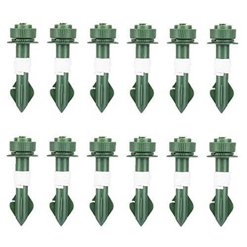 Automatische Bewässerung Set Waterer Spikes Pflanze Bewässerungsgeräte Selbst tropft Bewässerungsgeräte für Topfpflanze Garten Grün 12pcs, Gartenbewässerungsbedarf