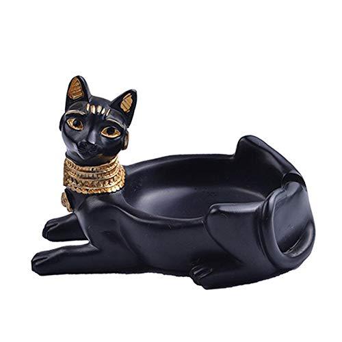 cuffslee Aschenbecher Katzen Figur Resin Crafts Ägyptischer Katzengott Aschenbecher, Katze Statue Ägypten Deko