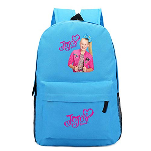 Backpack j-o-j-o s-i-w-a Pattern Backpack Youth Campus Student School Bag Custom Outdoor Travel Backpack 2-Sky Blue Pattern 3_One Size