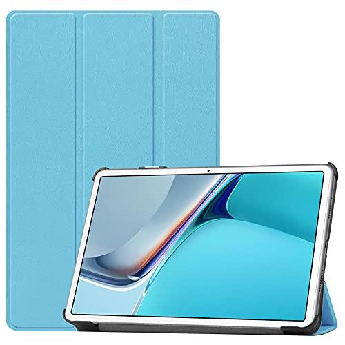 SENSBUN Funda para tablet Lenovo Tab M7 (7 pulgadas), cuero premium a prueba de golpes, funda de pie, delgada, ligera, multivisión, cubierta trasera, color azul claro