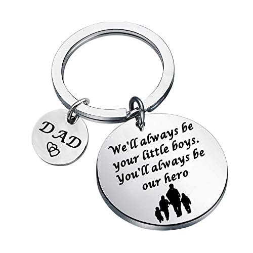 Dad Gifts Father's Day Keychain Daddy Gifts from Son Dad Keychain Dad Birthday Gift from Son (three sons UK)