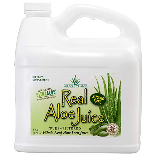 Real Aloe Whole-Leaf Pure Aloe Vera Juice - Made from...