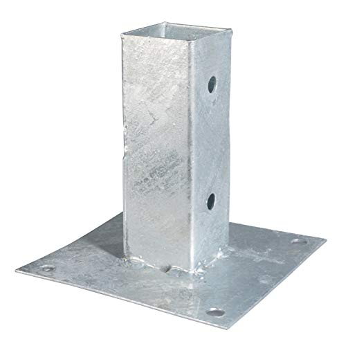 GAH-Alberts 211608 Aufschraubhülse | für Rund- oder Vierkantholzpfosten | feuerverzinkt | 61 x 61 mm