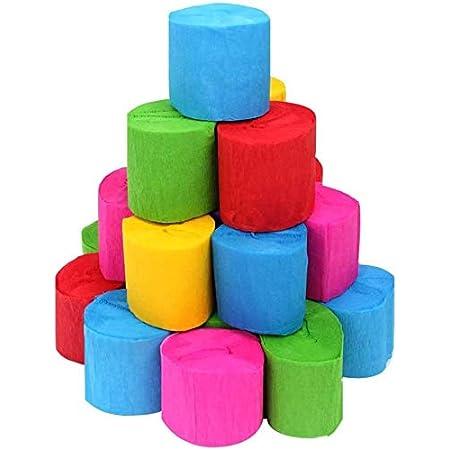 Coceca 36 Rollos De Papel Crepé Serpentinas De 6 Colores Para Fiesta De Cumpleaños Graduación Ceremonia Decoración Toys Games