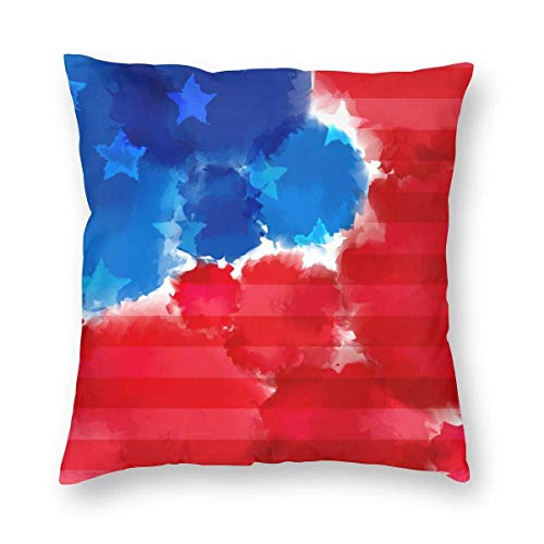 Moily Fayshow Square Throw Pillow Case Decorative Cushion Cover Pillowcase Painted American Flag,40 X 40 Cm