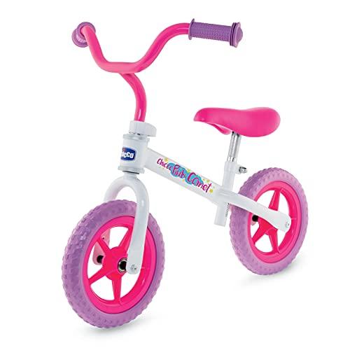 Chicco Bicicleta sin Pedales First Bike para Niños de 2 a 5 Años hasta 25 Kg, Bici para Aprender a Mantener el Equilibrio con Manillar y Sillín Ajustables, Color Rosa - para Niños de 2 a 5 Años