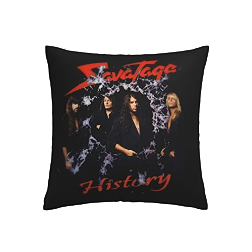 Savatage Square Throwing Pillow Covers Cushion Case for Sofa Bedroom Outdoor Home Decor Decorations for Sofa Couch Bed Chair Soft Cozy Pillow Cover with Hidden Zipper Cushion Covers