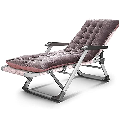 Tumbonas de Ocio para terraza Zero Gravity LLounge Chair, Tumbona Ajustable con cojín LLounge Chair Cuna de Camping Plegable Cuna Plegable para Piscina de Camping Soportes de Playa, Purple_1