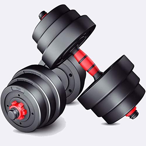 Mancuernas Pesa Ajustable con Mancuernas Protección Ambiental De PVC Mancuerna Equipo De Gimnasia para El Hogar Juego De Mancuernas con Mancuernas (Color : Black, Size : 7.5kg*2)