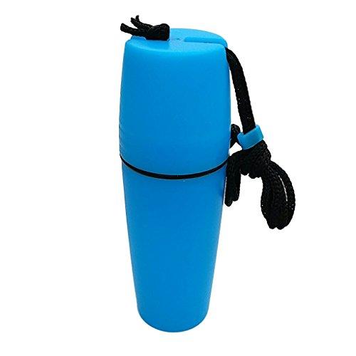 MagiDeal 1 Pieza de Botella de Contenedor de Cápsula Impermeable para Bucear Kayak de Snorkel - Azul