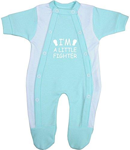 BabyPrem Babyprem Frühchen Baby Kleidung Schlafanzüge Strampler Kleine Kämpfer 38-44cm WASSERBLAU 1.6-2.5kg