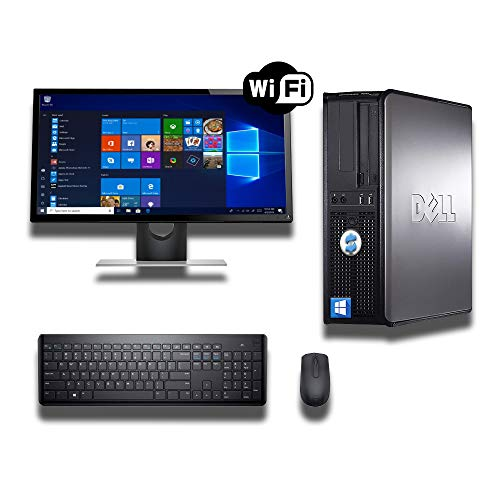 DELL OPTIPLEX 780 DESKTOP CORE 2 QUAD 2.5GHZ 8GB RAM 500GB HDD 22in MONITOR WINDOWS 10 64BIT (Renewed)